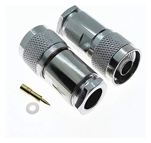 furong Conectador coaxial 10PCS N Enchufe Masculino RF Clamp RG8 LMR400 RG213 RG165 RG393 Cable