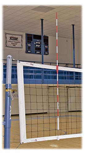 Tandem Sport Official Red & White Volleyball Clamp-On Net Antennas, 1 Pair, Fits 36