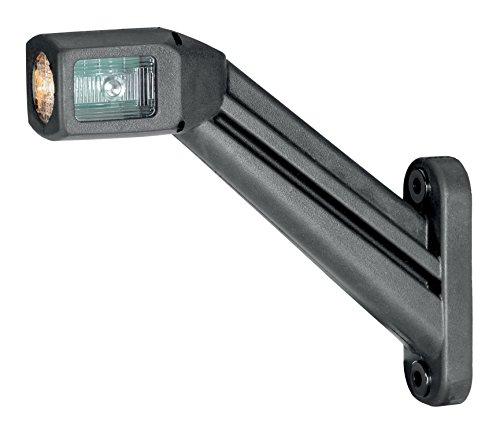 HELLA 2XS 011 744-101 LED Gummiarm-Umrissleuchte mit integrierter Seitenmarkierungsleuchte, vertikal, EasyConn 2-pol. Steckhülsengehäuse, rechts, 500 mm Leitung