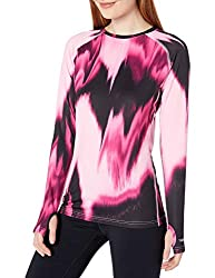 Duofold Women's Light Weight Thermatrix Performance Thermal Shirt, Marzipan Pink/Berry Delight, M