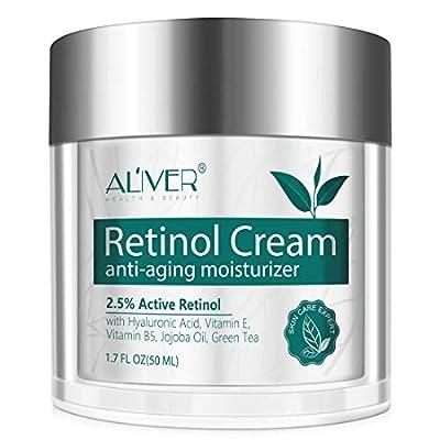 Retinol Moisturizer Cream, Anti Ageing Face Cream, Anti Wrinkle Night and Day Cream with Retinol Jojoba Oil for Men and Women by SOLOTREE