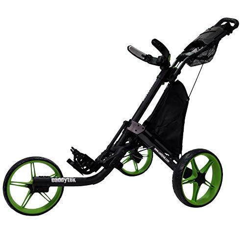 CaddyTek EZ Tour Quickfold Deluxe 3-Rad Golftrolley