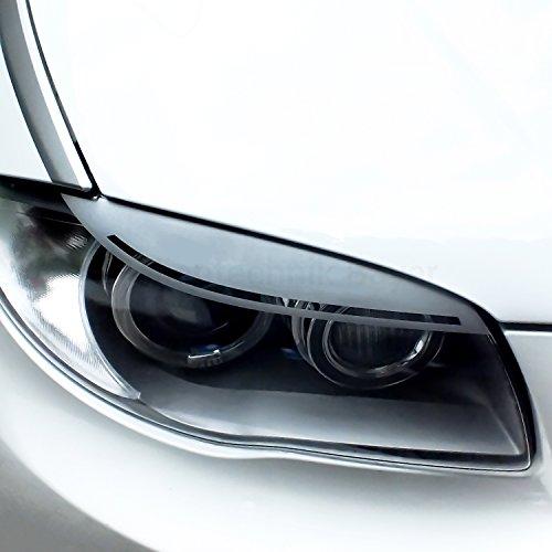 FOLIENTECHNIK BAYER 1076 LCI Scheinwerferblenden kompatibel mit BMW 1er E81 E87 (Silber)