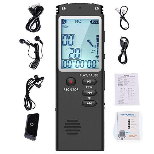 Tree-on-Life Grabadora de voz digital portátil activada por voz, mini espía grabadora de audio digital grabadora dictáfono reproductor de MP3