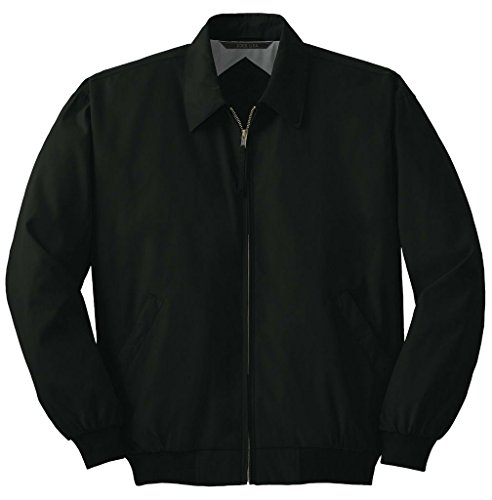 Joe's USA Men's Big Casual Microfiber Jacket-Black-2XL