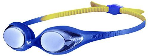 Arena Spider Jr Mirror, Occhialini Unisex Bambini, Multicolore (Blue/Blue/Yellow), Taglia Unica