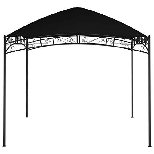 Tidyard 180 g/m² Patio-Pavillon im Freien, wasserdichter Garten-Pergola-Pavillon aus Stahl mit weichem Verdeck, für BBQ, Deck, Strand, Veranda, Garten oder Sonnenschirm, Anthrazit