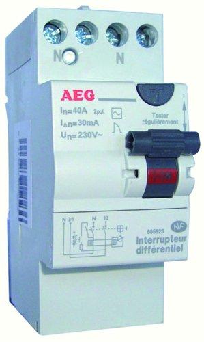 AEG AUN605823 - Interruptor diferencial (40 A, 30 mA, tipo CA, con bornes escalonados)