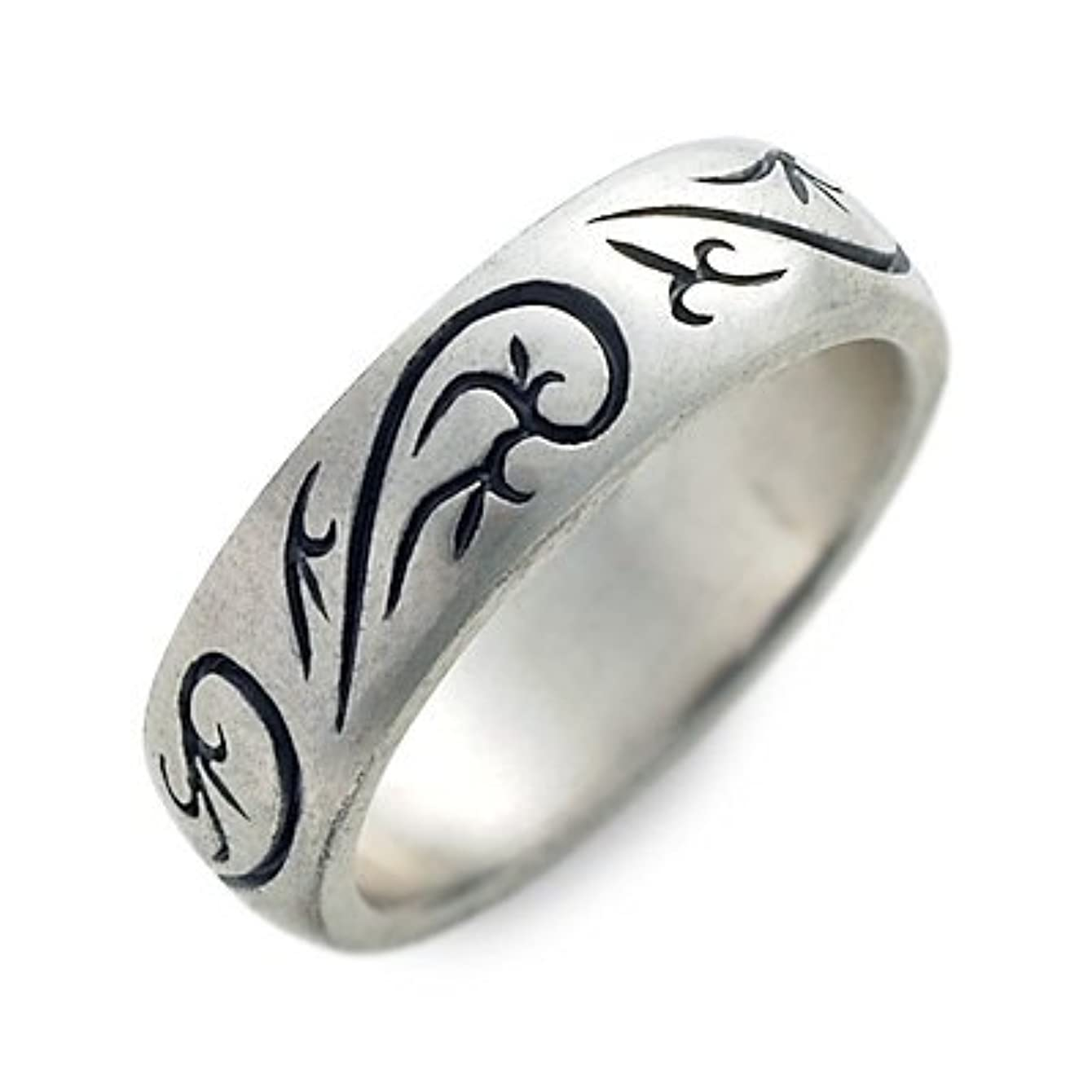 絶滅させるケーブルカー訴える[エムズコレクション] シルバー リング 指輪 ホワイト 8.0号 RYO-075-8