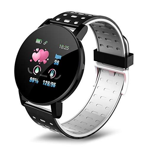 Smartwatch Relojes inteligentes, reloj Bluetooth inteligente reloj de los hombres la sangre la presión Deportes Mujeres inteligentes Banda impermeable de los relojes Sport Tracker for Android IOS