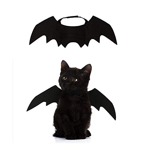Crewell Halloween Costume halloween gatto per Animale domestico Cane Gatto,ali pipistrello Costume da pipistrello,cosplay gatto