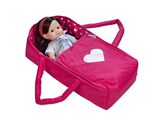 Doll Travel Bed Carrycot Carrier and Bassinet Fits 18 Inch American Girl Doll (Doll Not Included)