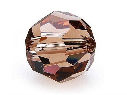 Swarovski Perle 5000, rotondo, 8mm, 10pezzi,, Vetro, light colorado topaz