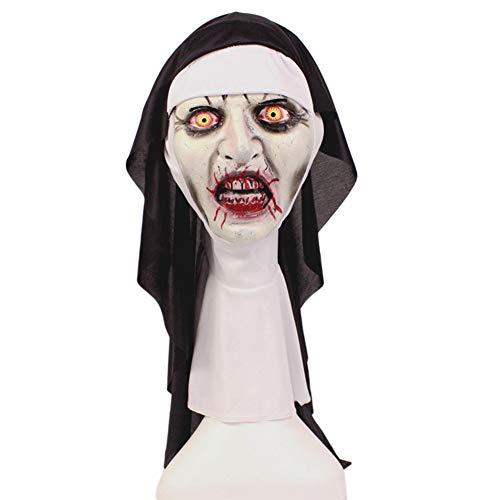 Sxgyubt Masker Halloween Vrouwen Horror Enge Nun Masker Verschrikkende Kostuum Cosplay Hoofddeksels Party Accessoires Rol Spelen Plezier Halloween Party Decoratie