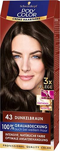 SCHWARZKOPF POLY COLOR Creme Haarfarbe Coloration 43 Dunkelbraun, 1er Pack (1 x 115 ml)