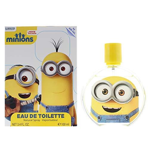 Universal AirVal International Eau de Toilette Spray for Kids 0.2 Pound, yellow, Minions by Air Val, 3.4 Fl Oz