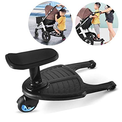 Yajiun Buggy Board With Seat,Standing Board,Seat Removable And Assembling 35x26cm