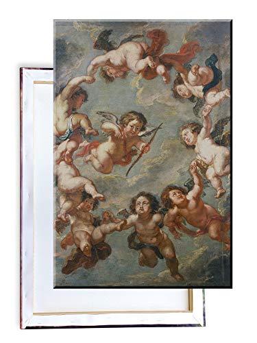 Unified Distribution Peter Paul Rubens - Putten - eine Deckenverzierung - Klassisches Gemälde - Replik auf Leinwand 100x70 cm