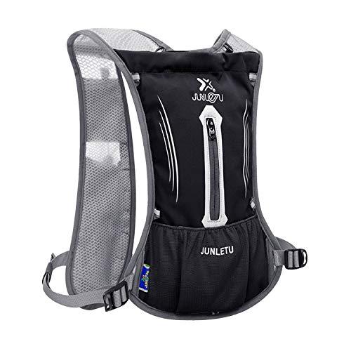 BWBIKE Langlauf-Wasser-Rucksack, ultraleicht, atmungsaktiv, wasserdicht, Marathon-Rucksack, für Damen und Herren, Outdoor-Sport, Reittasche, Unisex, Schwarz , Einheitsgröße