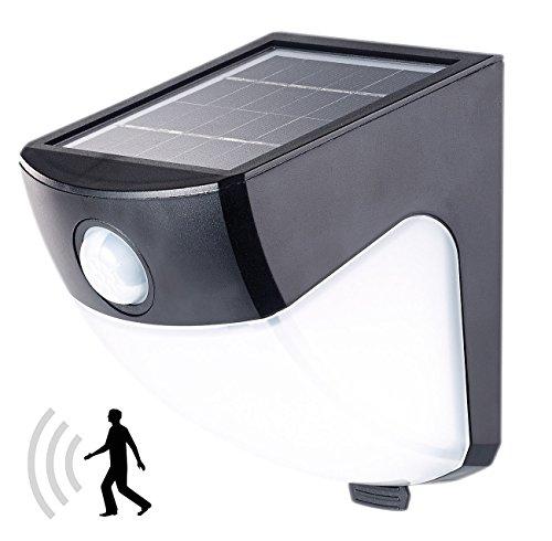 Applique solaire LED 2 W avec détecteur de mouvement - Noir [Lunartec]