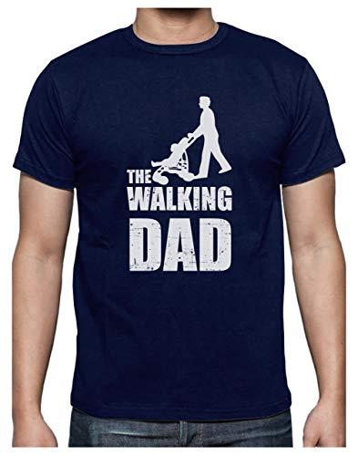 Green Turtle T-Shirts Camiseta para Hombre- Regalos Originales para Padres Primerizos - The Walking Dad X-Large Azul Oscuro