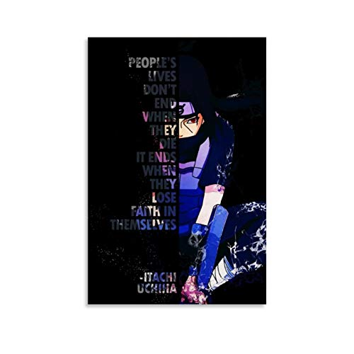 huaduo Naruto Itachi Quote Anime Poster Decorative Painting Canvas Wall Art Living Room Posters Bedroom Painting 20x30inch(50x75cm)