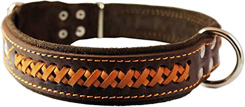 Genuine Leather Braided Dog Collar