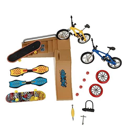 Patinetas Dedo Juguetes Set Coches De Skate Park Kit Mini Scooter De Bicicletas Monopatín Lugar Set para Niños Manos De Formación 1 Pack