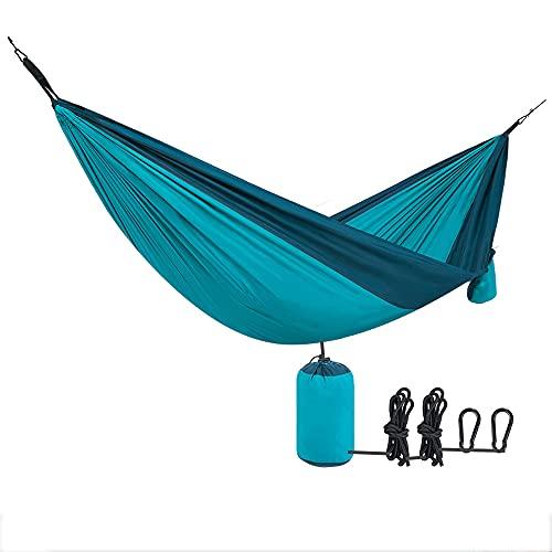 N / B Equipo de Hamaca de Pongee, Supervivencia de Mochila Exterior o hamacas portátiles de Viaje, Tela cómoda con Correa de árbol para Colgar Bolsa Duradera