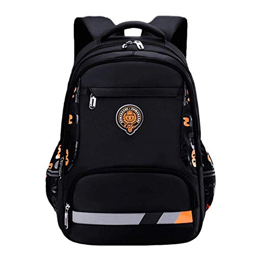 LYZJDP Backpack, Children's Leisure Schoolbag, Wear-Resistant and Breathable 1-3-6 Grade Boys, Large-Capacity Backpack