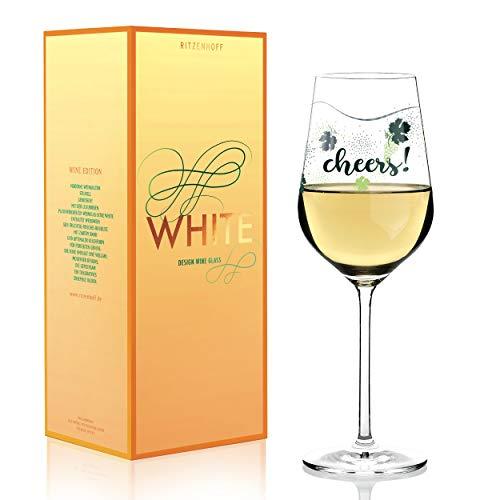 RITZENHOFF - Copa de vino blanco (cristal, 360 ml, con finas piezas de platino)