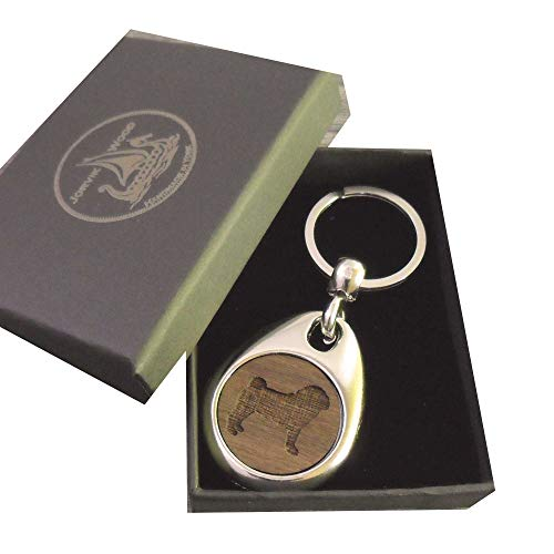 Jorvik Schlüsselanhänger Holz Mops mit Geschenkbox