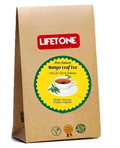 lifetone the tea for better life, Mango Leaf Tea | Enhances Immunity | Diabetic Tea | Detox Tea (20 Teabags)