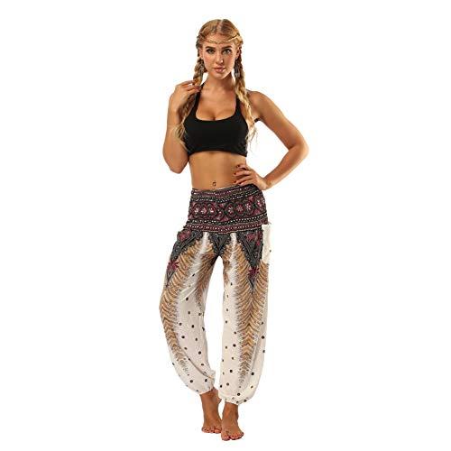 Gyratedream Haremshosen Damen Pumphose Boho Hose Casual Hippy Hosen Gedruckt Lose Joga Pilates Sporthose
