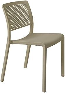 resol grupo Trama Set de 2 sillas de diseño para interior, exterior, jardín, Arena, 54 x 48 x 80 cm