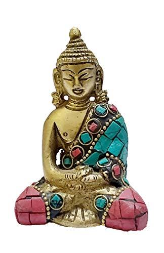 PARIJAT HANDICRAFT Brass Gautam Buddha Sitting Idol Statue Meditating Position