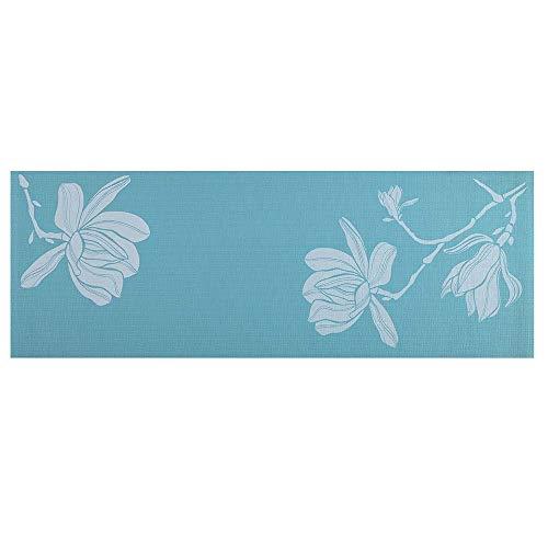 Tapete de Yoga Premium com Estampa de Floral,175cm x 61cm x 0,4cm, Azul - ES218 Atrio Normal