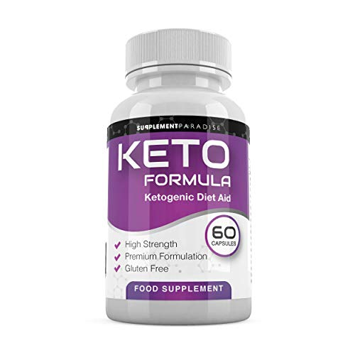 Keto Formula KETOGENIC Diet AID - REDUCING Feelings of Hunger - Detox Naturally & Safely- Weight Loss- Burn Fat- Sodium- Vitamin A- B12,B6- Apple Cider, Guarana, SUPPLEMENT PARADISE