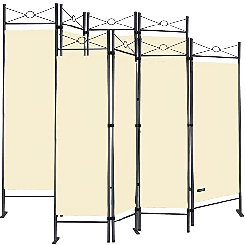 Deuba 2er Set Paravent Lucca 180x163 cm Raumteiler Verstellbar 4 TLG Trennwand Spanische Wand Raumtrenner - Creme