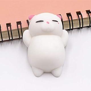 MeterMall Cute Cartoon Squishy Doll Depression Doll for KIds Pink ear cat
