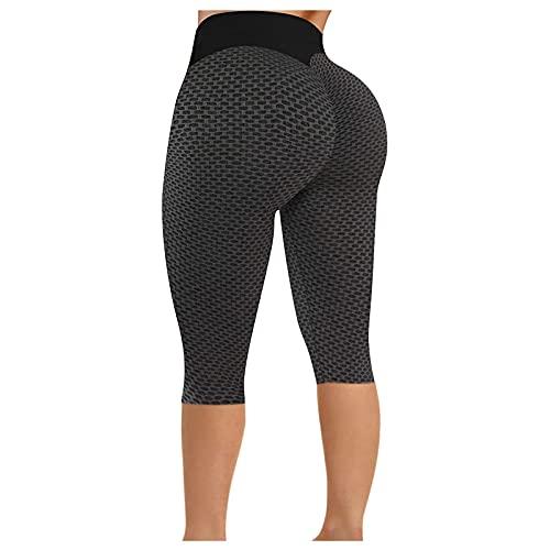 KYZRUIER 2021 Caliente Mujer Apretado Panal De Ajuste Pantalones De Yoga Fruncido, Flaco Nalgas Levantamiento Fitness Deportes Cortos Recortar
