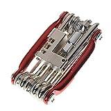 YQG Uhren-Reparatur-Werkzeug-Set, Fahrrad-Werkzeug-Set, 11-in-1 Fahrrad-Reparatur-Set, Schraubenschlüssel, Schraubendreher, Kette, Karbonstahl, Multifunktionswerkzeug (B), Uhren