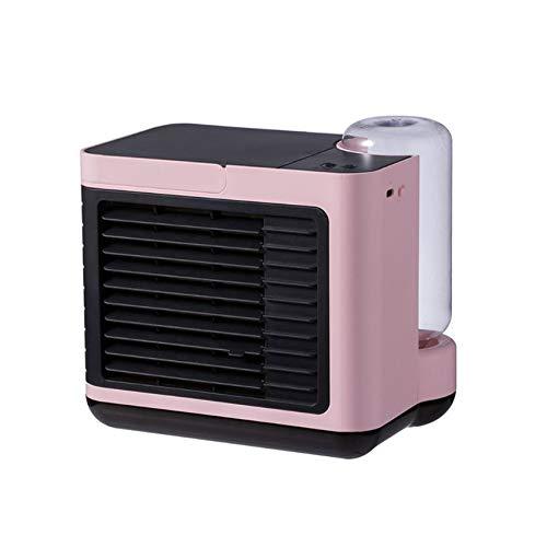 pombconw Enfriador De Aire Personal, Mini Aire Acondicionado Portátil De 3 Velocidades Enfriador Recargable por USB Pequeño Ventilador De Oficina con Luz Nocturna para Dormitorio Oficina En Casa