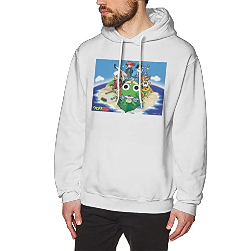 Sgt. Frog Keroro Gunso Hoodie Merch Pattern Pullover Crewneck Sweatshirts Tops 3dprinted Hooded Pullover Sweatshirt For Men White
