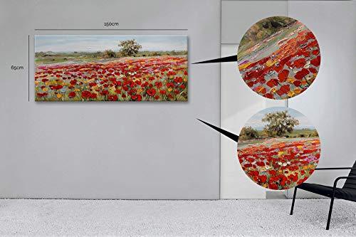 Casarreda Store Dipinto Fiori in Rilievo Realizzato a Mano 65X150 - BUBOLA E NAIBO