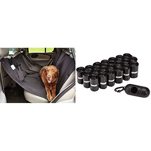 Amazon Basics Amaca Coprisedile per Animali Domestici & Sacchetti per bisogni dei Cani, con Dispenser e Clip per guinzaglio,300 unità