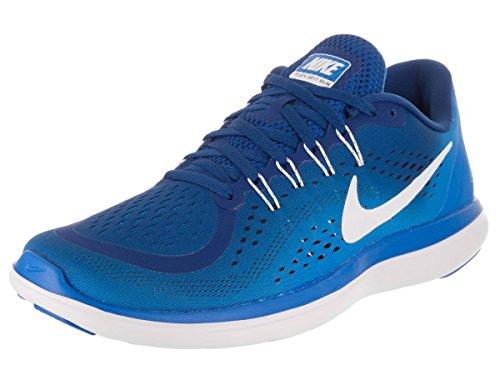 Nike Men's Flex 2017 Rn Gym Blue/White - Photo Ankle-High Running Shoe 11.5M
