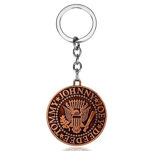 Fashion Key Chains The Ramones Keychain Ramones Presidential Seal Logo Metal Keyring Key Chains Cheap Key Chains