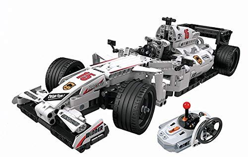 Modbrix Coche teledirigido F1 con función de potencia, escala 1:12, 729 piezas