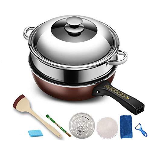 Elektrische koekenpan, Huishoudelijk eendelig elektrisch koken, Wok, Studentenslaapzaal Luxury